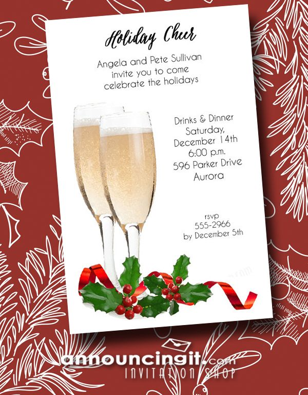 89 best Christmas and Holiday Invitations images on Pinterest - free xmas invitations