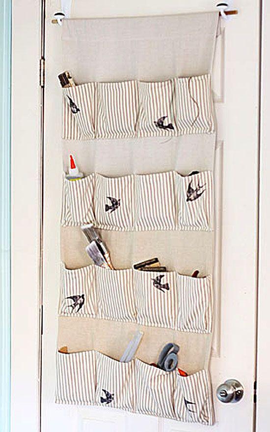 Stylish Storage: Make a pretty hanging organizer for your craft supplies!