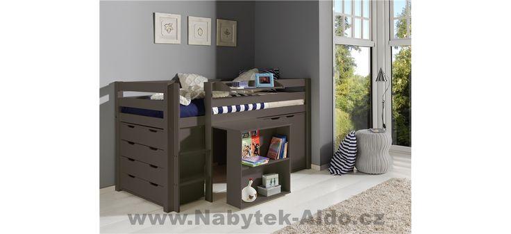Dětská postel z masivu s úložným prostorem Pino PIHSZG15-B