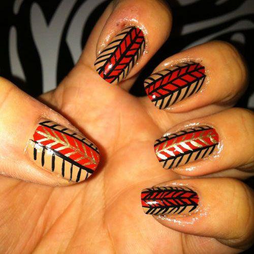 Thanksgiving Nails: 15-Easy-Thanksgiving-Nail-Art-Designs-Ideas-Trends