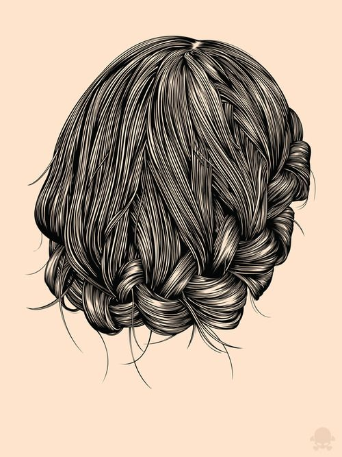 Gaks Designs illustration - Hair Study