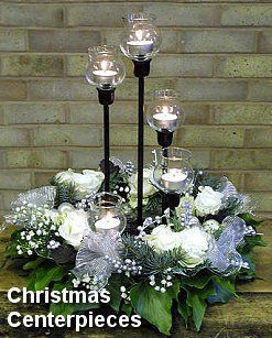 Bing candlelight images   Could use the cobalt blue candle holders.   Wedding Flowers/ Table Ar ...