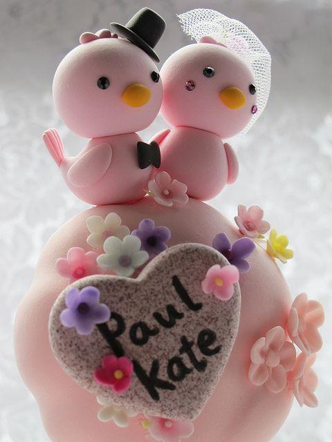 pajaritos enamorados....para un pastel de enamorados tambien....
