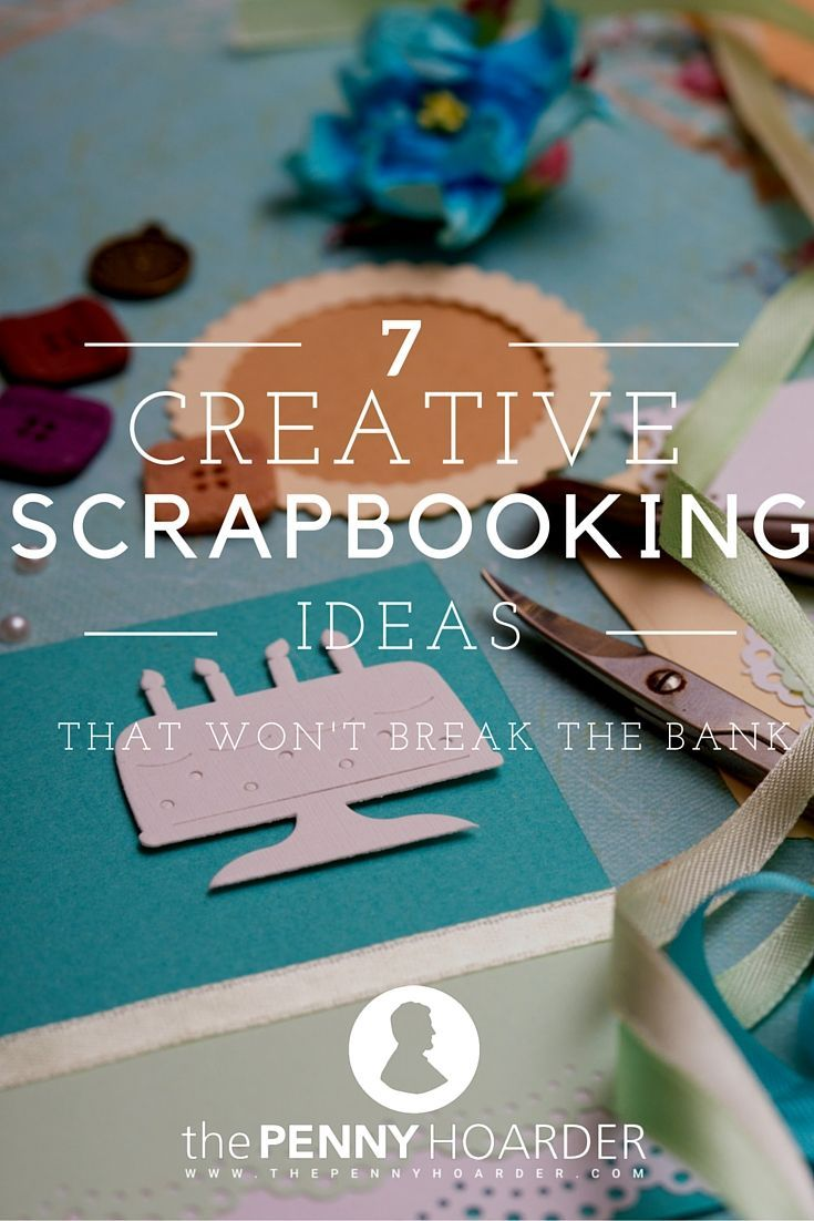 Love scrapbooking, but hate spending so much money on design elements for your pages? Here are some great ideas for finding scrapbook materials and getting creative to enjoy scrapbooking on a budget. - The Penny Hoarder http://www.thepennyhoarder.com/scrapbooking-on-a-budget/