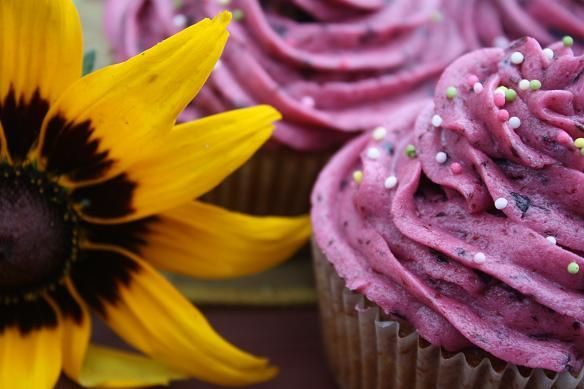 Jagodowe cupcakes