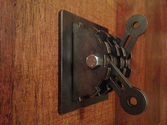 Steampunk Double Light Switch Cover Levers Gear