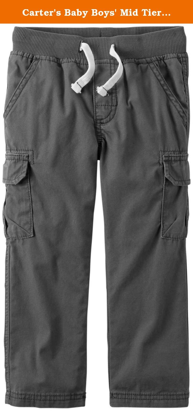 Carter's Baby Boys' Mid Tier Pants - Gray - 18 Months. Mid Tier Pants (Baby) - Gray Carter's is the leading brand of children's clothing, gifts and accessories in America, selling more than 10 products for every child born in the U.S. The designs are based on a heritage of quality and innovation that has earned them the trust of generations of families.