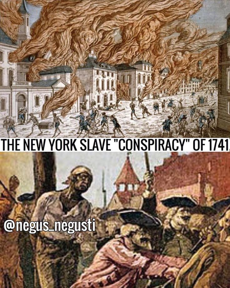 """#ThrowbackThursday The New York Slave Conspiracy of 1741 is an event that most historians never mention. Between March and April of 1741, ten fires blazed in New York City, with four fires on a single day in April. A grand jury concluded the fires were the work of slaves who had ties to a """"conspiracy"""" to burn the city and murder all the white people. Hundreds of slaves were taken to the basement of the city hall on charges of burglary, arson, and insurrection. A 16 year old Irish girl under…"""