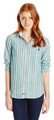 U.S. Polo Assn. Junior's Striped Poplin Shirt - Shop for women's Shirt - Fanfare Shirt