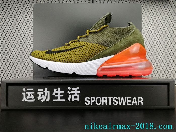 super popular 9f062 e1198 2018 Latest Fashion Nike Air Max 270 Flyknit Mens Running Shoes Green Red  White Black