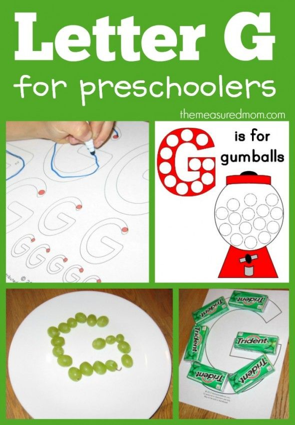 From gum to grapes... fun ways to make the letter G!