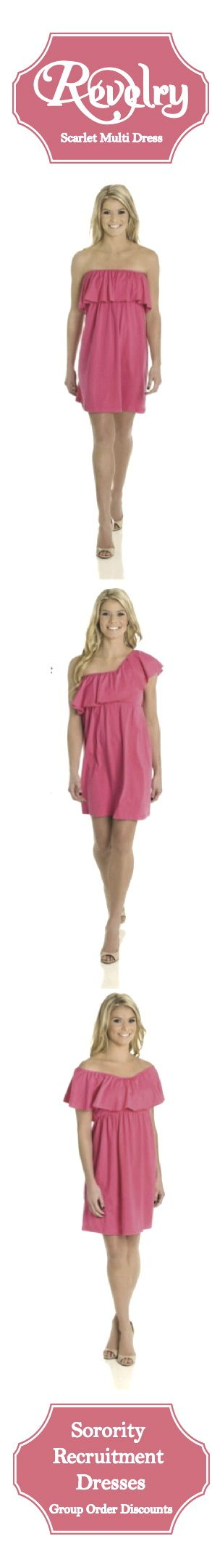 Sorority Recruitment Dresses!  Discounts for group orders. Perfect Sorority Recruitment Outfits! #RecruitmentReady #RevelryDresses