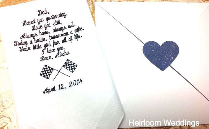 A personal favorite from my Etsy shop https://www.etsy.com/listing/180737587/embroidered-wedding-handkerchief