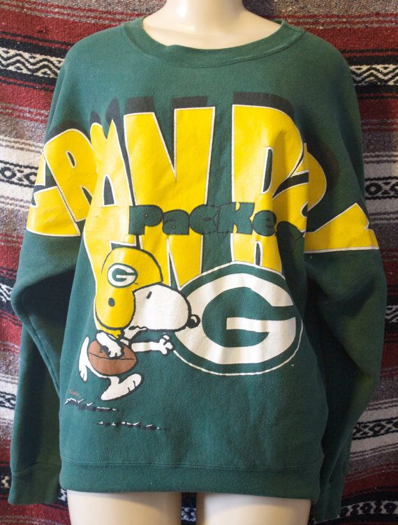 Green Bay packers snoopy sweater vintage size M by dianasore, $12.99