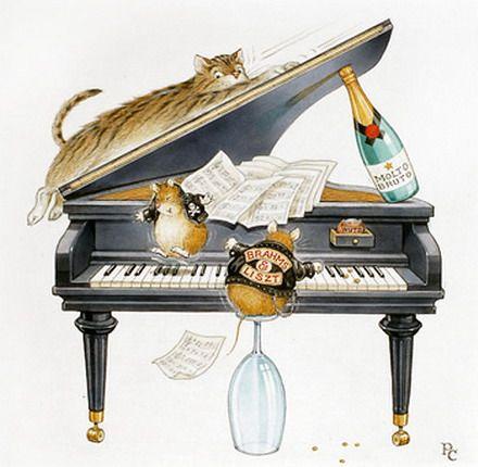 мышка на пианино картинки сайте есть