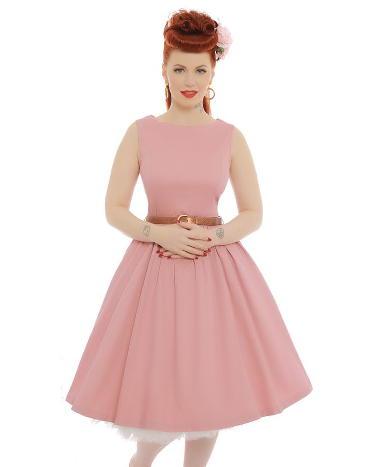 Audrey Dusky Pink Dress | Vintage Style Dresses - Lindy Bop