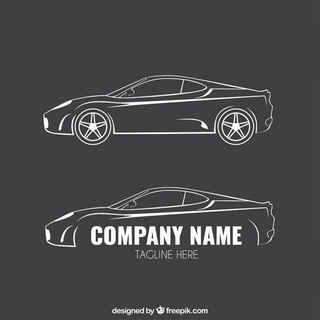 Logotipos de coches esbozados Vector Premium