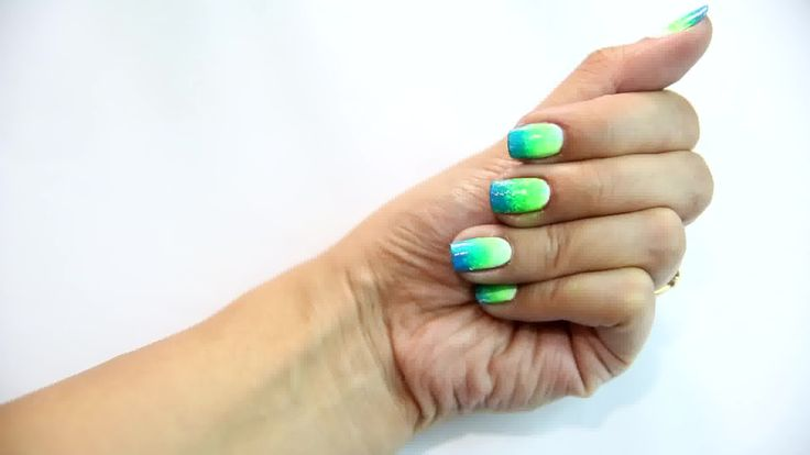 How to Do Dip Dye Nails
