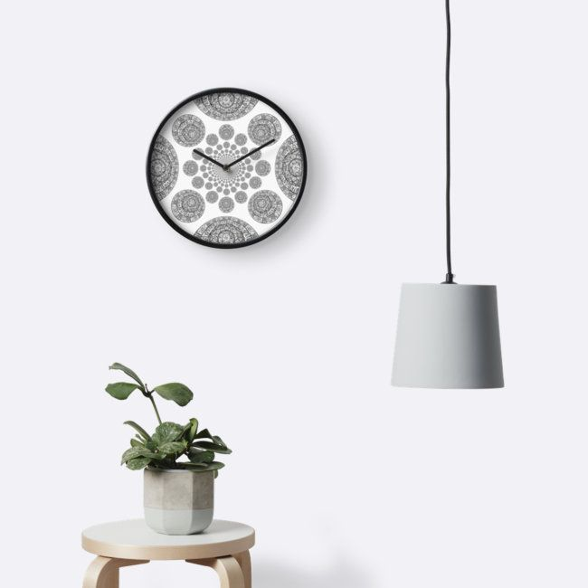 Interstellar - Clocks  zodiac galaxy black and white stars sky interstellar kaleidoscope home decor wall decor wallclock