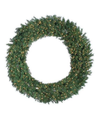 600-Light Aspen Spruce Wreath