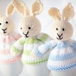 204 best easter crochet and knitting images on pinterest crochet knitted easter bunnies negle Gallery