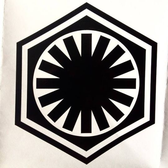 The insignia of the the First Order from Star Wars Sourcebooks