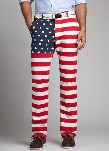American Flag Print Straight leg Chinos Bonobos Men's Clothes