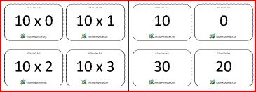 Here you will find our selection of Printable Math Flash Cards for Multiplication facts, to help you learn your 2 3 4 5 and 10 times tables by the Math Salamanders.