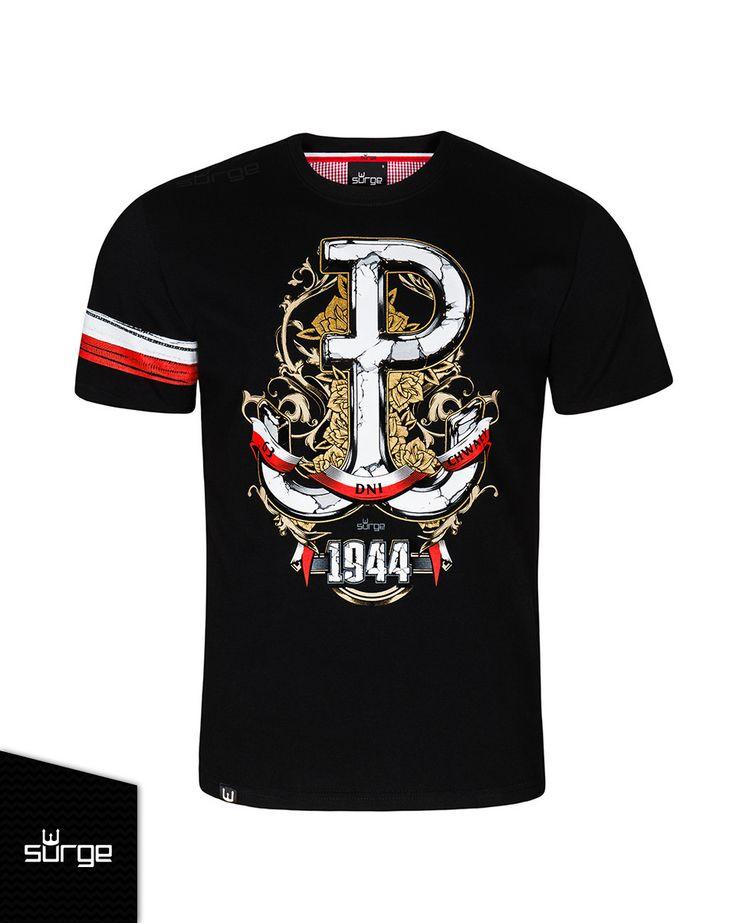 Koszulka patriotyczna 63 dni chwały Z OPASKĄ | KOSZULKI \ KRÓTKI RĘKAW | Sklep z koszulkami Polski i odzieżą patriotyczną ●  Przepnij Pina! Pomóż nam promować ideę nowoczesnego patriotyzmu. Surge Polonia