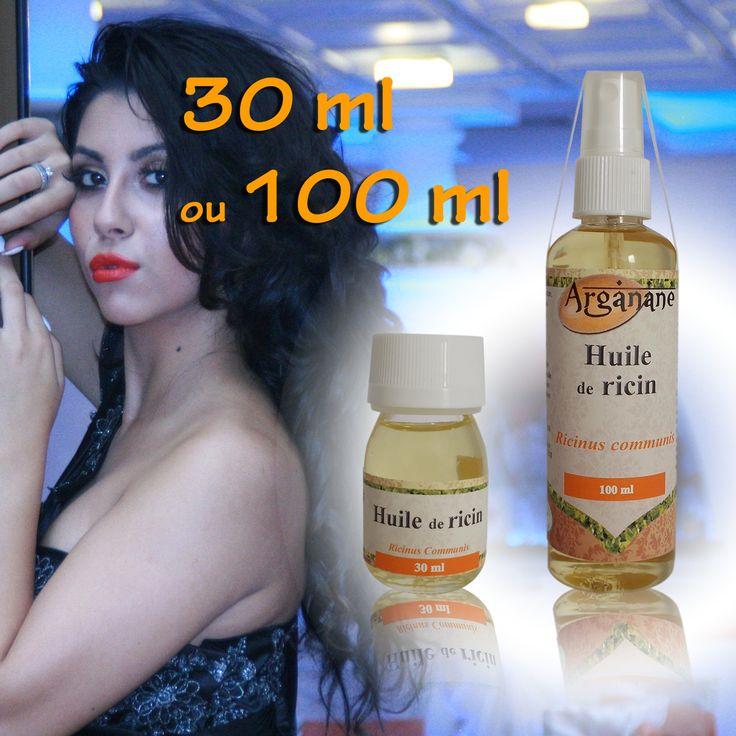 Huile de ricin - ARGANANE - Prix : 1,90 euros les 30 ml - 5,50 euros les 100 ml. Extraite des graines du ricin (Ricinus communis), l'huile végétale du même nom est très visqueuse et a longtemps été un remède de grand-mère incontournable. La richesse de sa composition en fait l'une des huiles les plus nourrissantes. L'huile de ricin agit en profondeur pour renforcer et revitaliser votre corps. Fabriqué et emballé au Maroc.