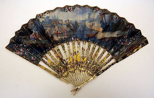 Fan 1766, French, Made of paper and ivory