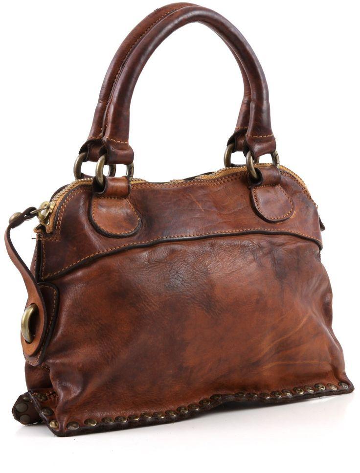 Love! - campomaggi Lavata Satchel Leather cognac 28 cm - C1295VL-1702 | Designer Brands :: wardow.com