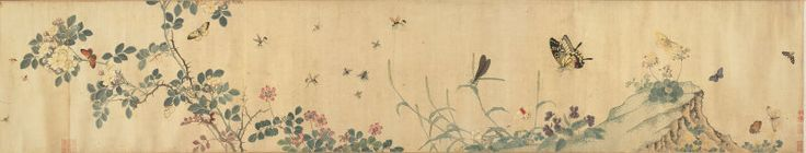 Chai Zhenyi and Chai Jinyi Chinese, 17th century Flowers and Insects, Qing dynasty (1644–1911), reign of Kangxi (1662–1722)