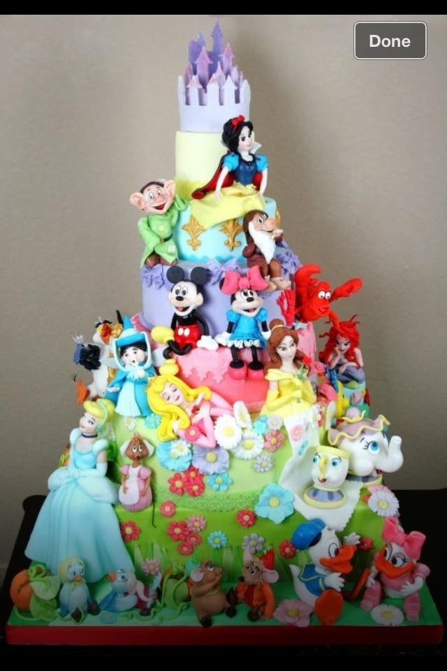 Amazing Disney Characters Cake