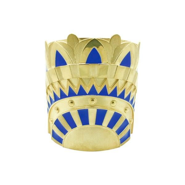 Lotus Gold & Enamel cuff from the EGYPT Collection by Amanda Marcucci Jewellery