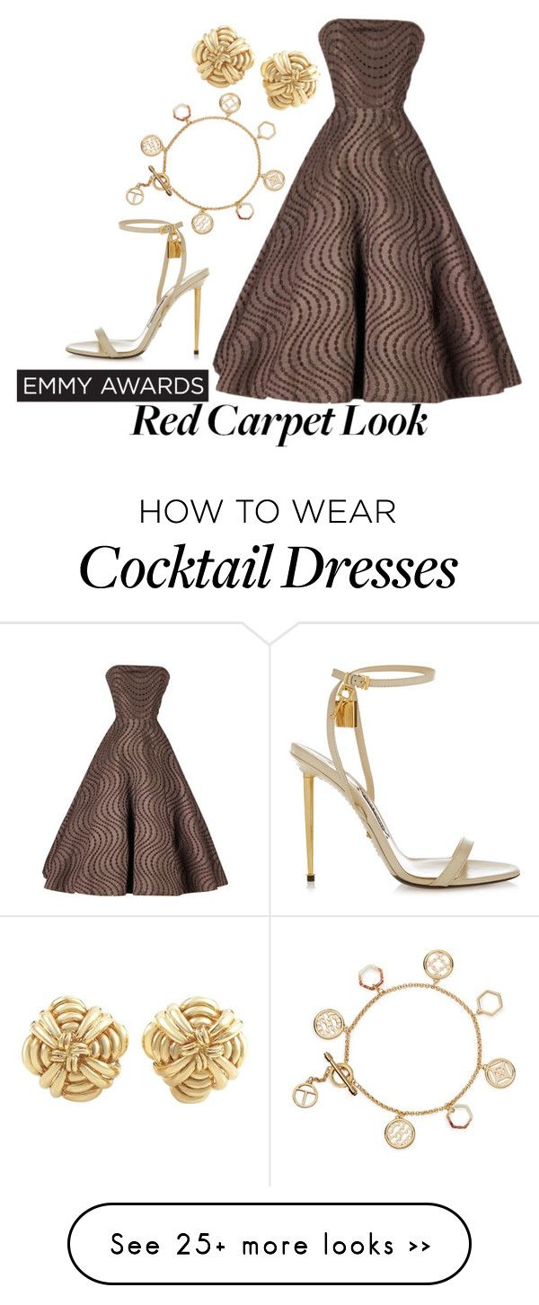 """Emmy Awards"" by circusrose on Polyvore featuring Tom Ford, Tory Burch, Tiffany & Co. and emmyredcarpet"