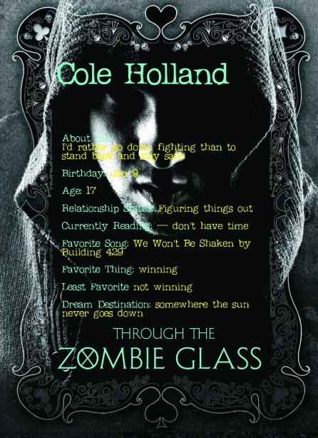 Meet Cole... Then check out Gena Showalter's books featuring him... the White Rabbit Chronicles.