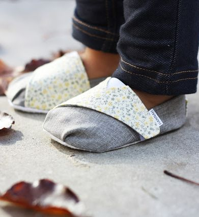 TOMS inspired Baby and Toddler shoe tutorial and pattern