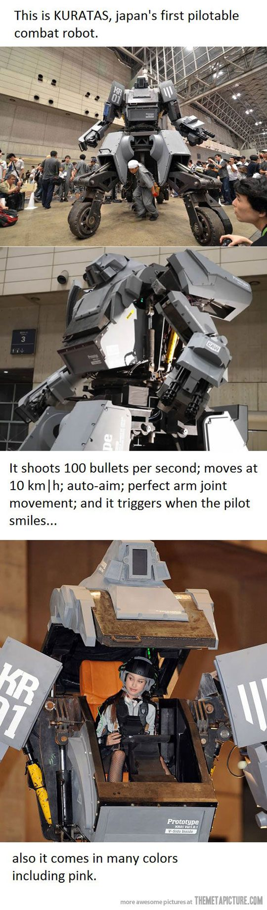 Japan's first combat robot…   I knew this day was coming! Run