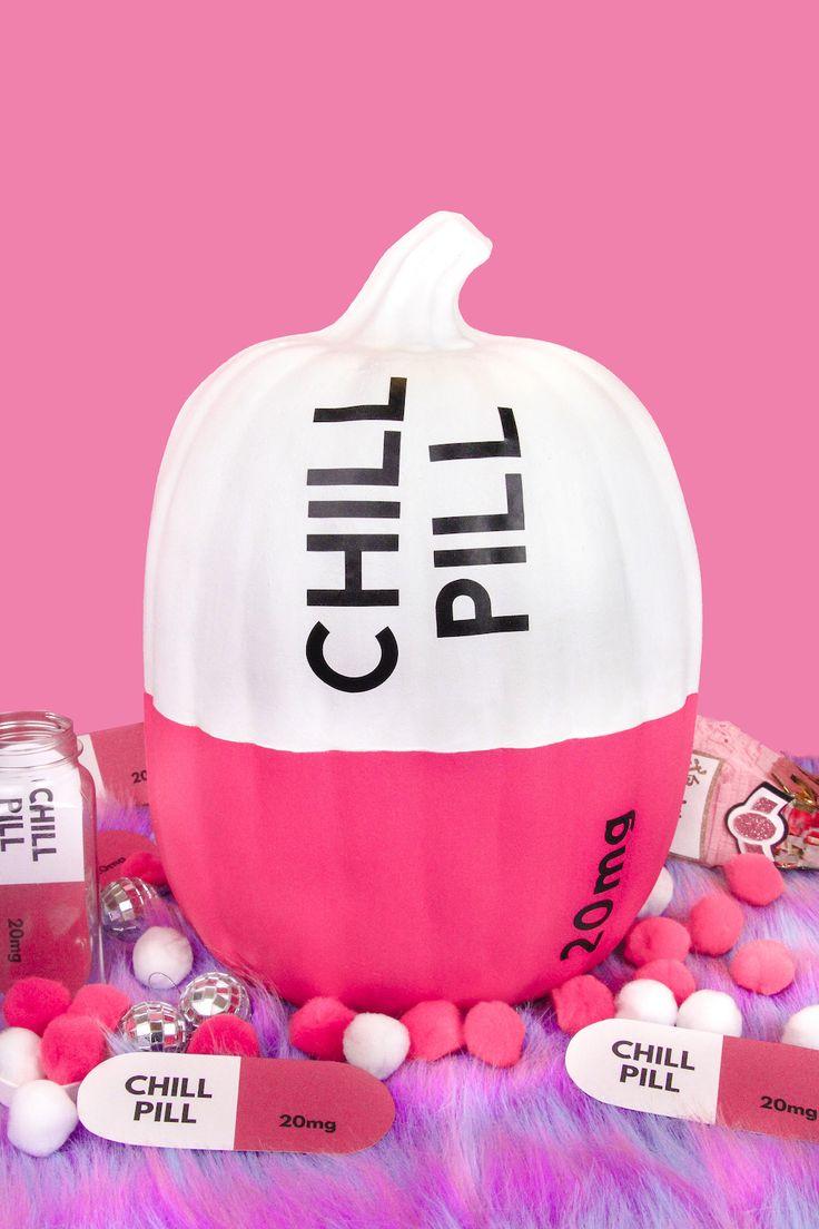DIY Chill Pill Halloween Pumpkins