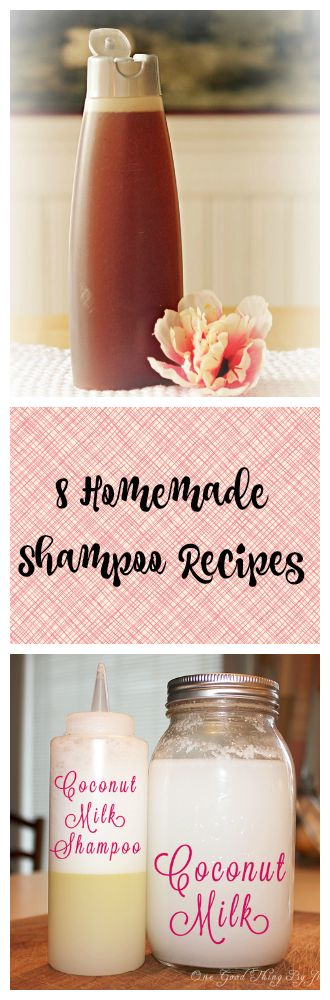 8 Different Shampoo Recipes - one for every hair type!