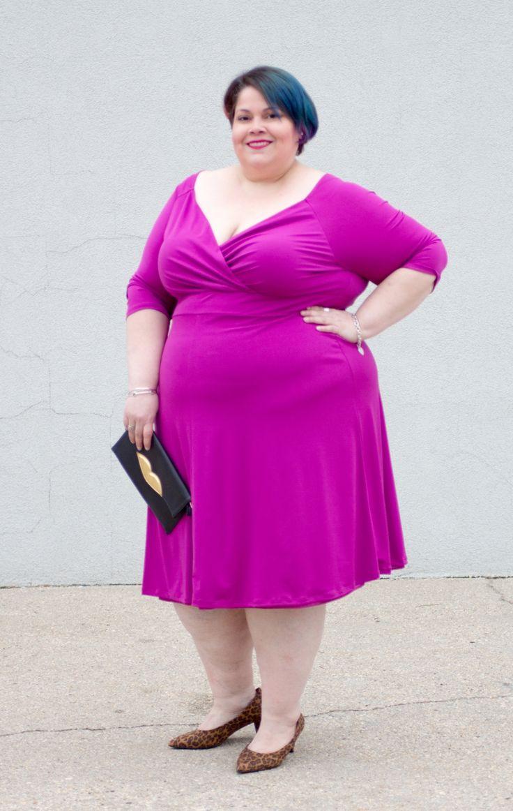 Curvalicious Clothes :: Plus Size Dresses :: Francesca Dress - Magenta #plussize #plussizefashion