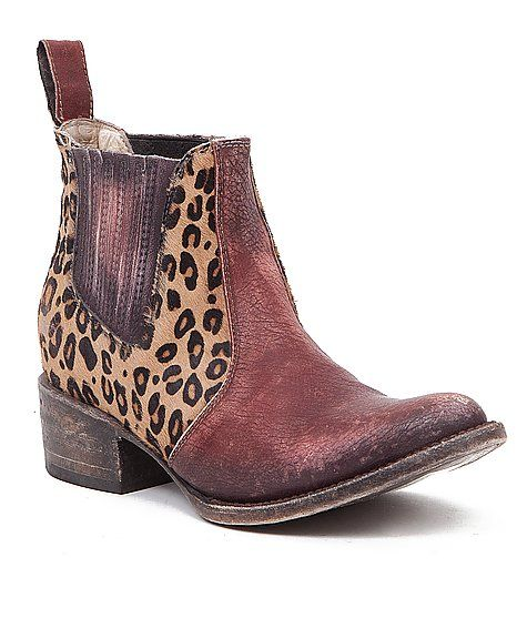 Freebird by Steven Lasso Boot - Leopard printed cow fur distressed leather boot for that wildflower in you.