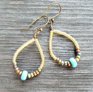 free tutorial for making seed bead earrings
