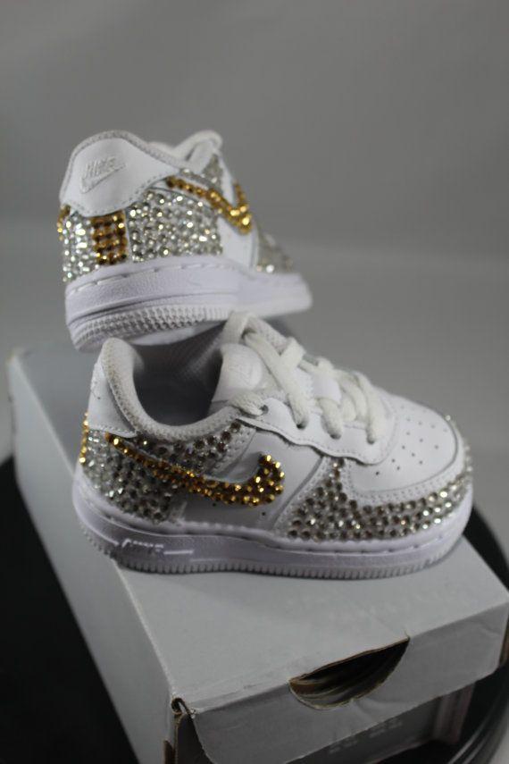 Custom Bling Air Force Ones Tennis Shoes