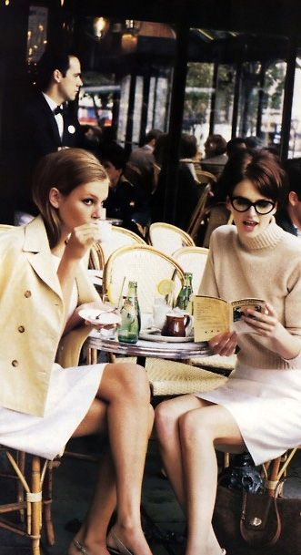 The Best Times With Friends ~=~ Lunch at a Paris Outdoor Cafe & People~Watching, Too !! ~<3