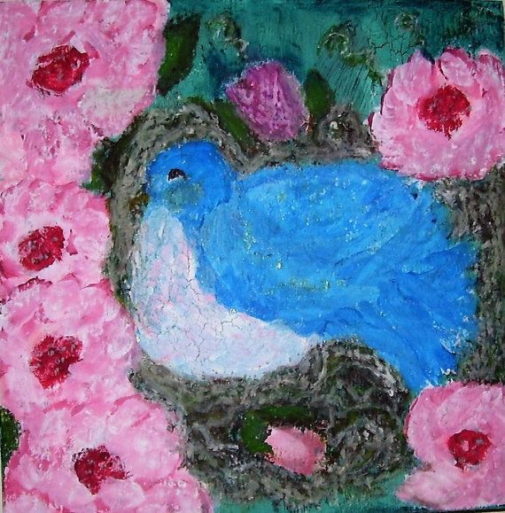 Whimsical Bluebirds and Roses Nursery by createinspirebelieve