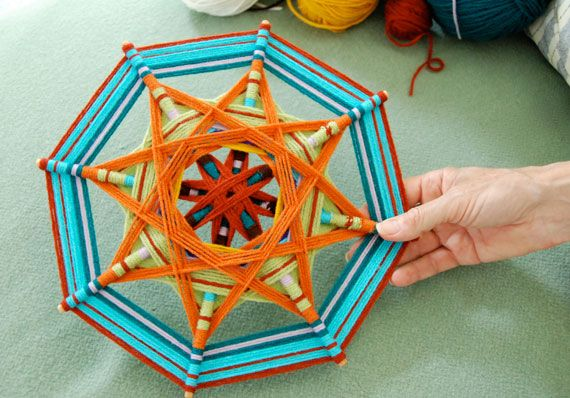 How To Weave a Complex Ojo de Dios.  I loved doing the basic ones as a kid...this looks exciting!