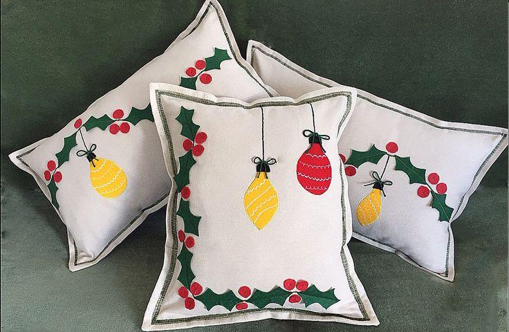 #ceydaaksu #ceydaninelinden #bozcaada #thenedos #elişi #craft #DIY #handmade #özgün #unique #hediye #gift #ev #home #dekorasyon #decoration #yastık #pillow #keçe #felt #yılbaşı #christmas #noel #xmas