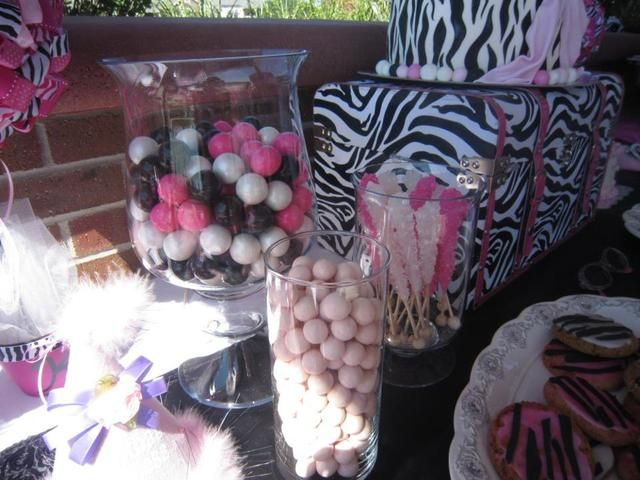 """Photo 10 of 10: Hot Pink with Zebra Print / Birthday """"Kylie's First Birthday """" 